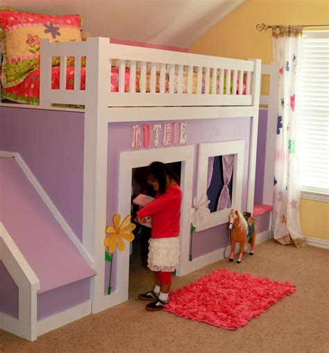 Princess Bed With Slide by Princess Bed With Stairs And Slide White Woodworking