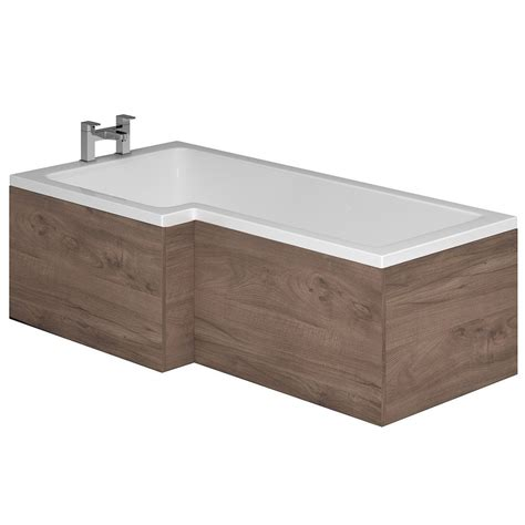 l shaped bath shower genesis l shaped shower bath wooden end panels genesis