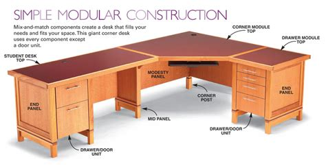 how to build a modular desk system free diy desk plans