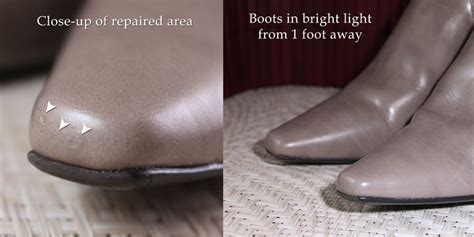 how to repair leather shoes how to repair a scrape on faux leather shoes