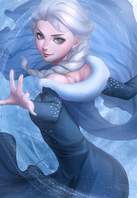 On Elsa New 4 elsa artgerm coloring by zienu on deviantart