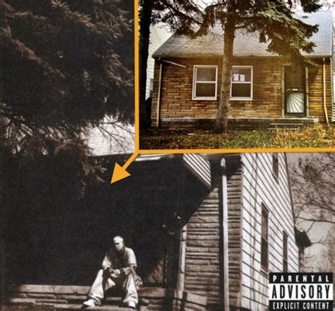 eminem home eminem s detroit home seen on 2 album covers available