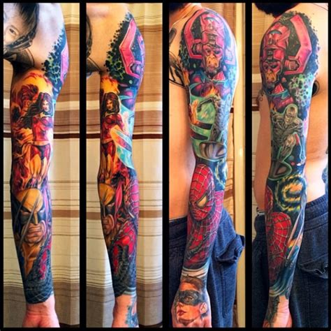 marvel sleeve tattoo the ink diaries wednesday s ink episode 26 rick s