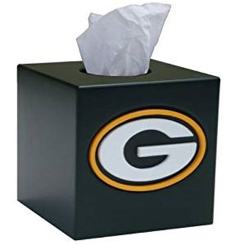 Green Bay Packers Bathroom Accessories Nfl Tissue Box Cover Nfl Team Green Bay Packers Sports Fan Bath Accessories