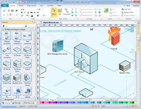3d diagram maker 3d network diagram network diagram solutions