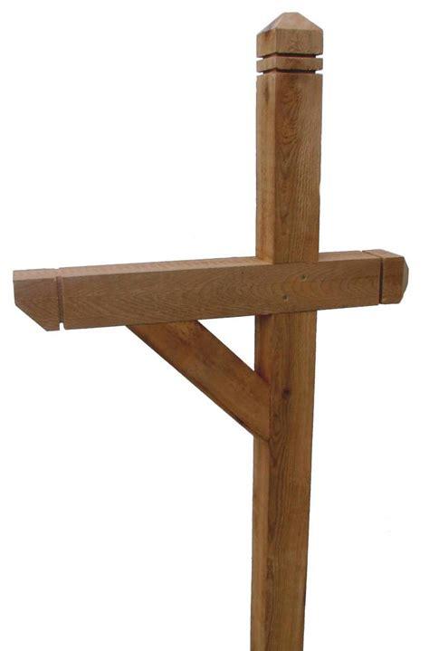 make 4 215 4 wooden mailbox post furnitureplans