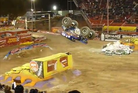 nitro circus monster truck backflip monster truck backflip by son uva digger video