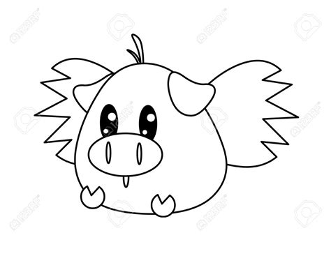 Flying Pig Drawing at GetDrawings.com | Free for personal ... Flying Pig Drawing