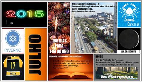 Calendario Q Dia E Hoje Jornal O Resumo Julho 2015