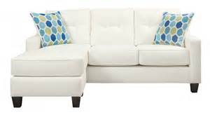 White Sleeper Sofa Aldie Nuvella White Sofa Chaise Sleeper