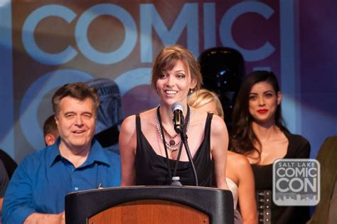 along with the gods press conference hudson leick along with neal adams and leeanna v at