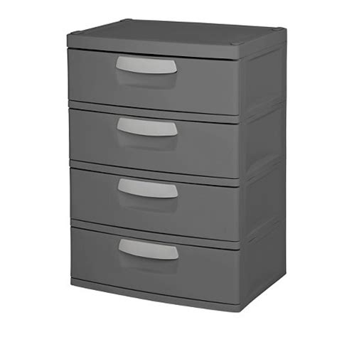 Sterilite 4 Drawer Storage Unit by Sterilite 174 4 Drawer Garage And Utility Storage Unit Gray