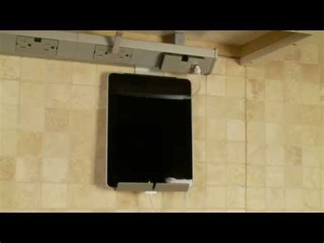 under cabinet tablet dock ipad kitchen stand an under cabinet tablet mount from