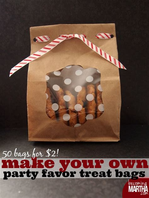 Make Your Own Paper Bags - make your own favor treat bags for 2 becoming martha