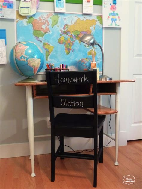 Homework Desk And Chair by Thrifted Upcycled Homework Station With A Vintage School