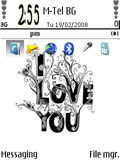 love themes symbian i love u theme free download for symbian s60 3rd and 5th