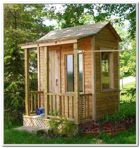 build small outdoor storage shed front yard