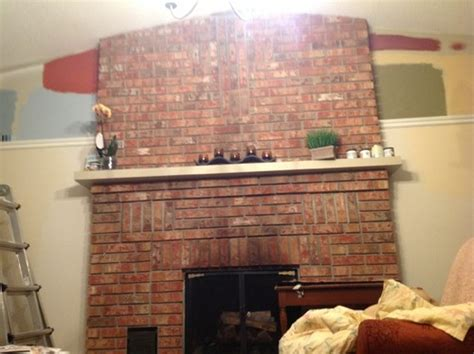 which color with brick fireplace