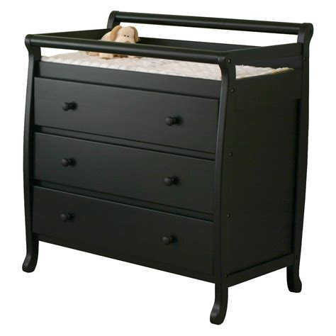 Black Changing Table Dresser Combo Home Furniture Design Changing Table Black