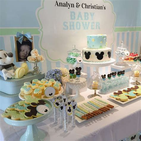 Mickey Mouse Baby Shower Themes by Baby Mickey Mouse Baby Shower Dessert Table Baby Shower