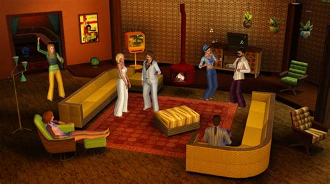 70s living room the sims 3 70s 80s 90s stuff assets sims community