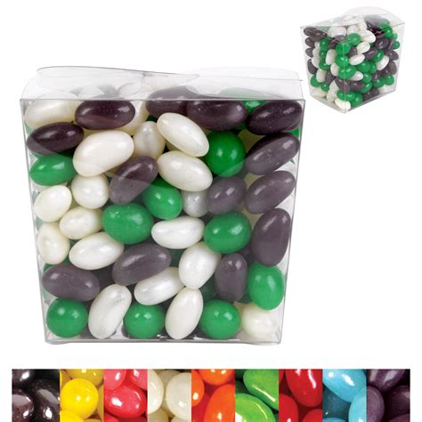 Jelly Mini corporate color jelly beans in clear mini noodle box printed jelly beans confectionery