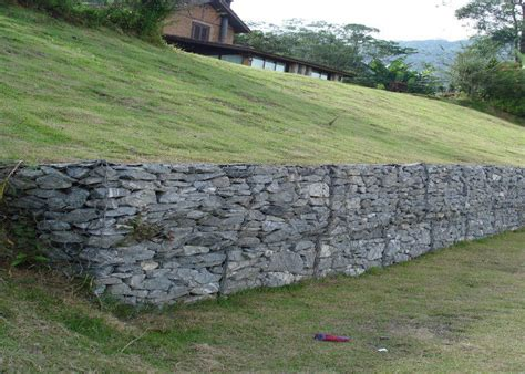 pvc grey stone cage retaining wall seal for soil