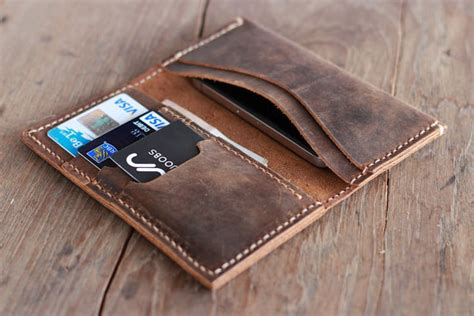 Handcrafted Leather Wallet - leather wallet groomsmen gift iphone 5s wallets
