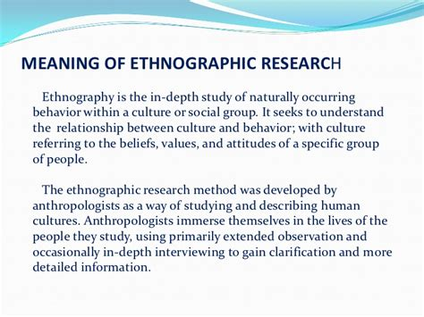 Ethnographic Essay Introduction by Ethnographic Essay Exle 4 And Ethnography Research
