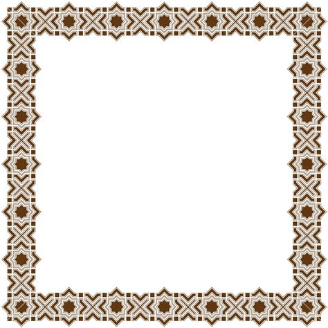islamic pattern border islamic frame