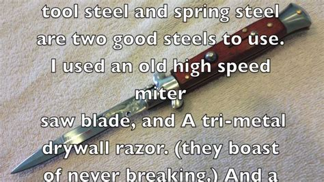how to make a switchblade knife how to make your own stiletto switchblade