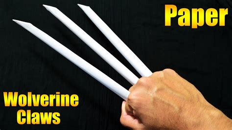how to make paper wolverine claws paper claws