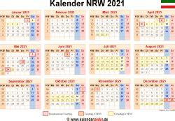 kalender  nrw zum ausdrucken