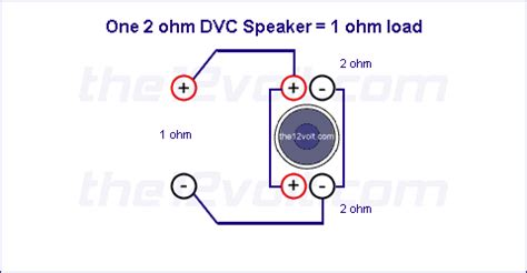 subwoofer wiring diagrams one 2 ohm dual voice coil dvc