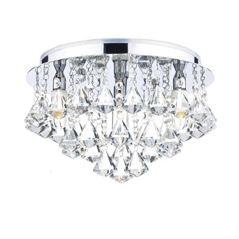 Decorative Contemporary Bathroom Ceiling Light In Chrome