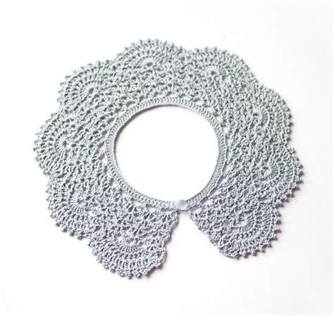 how to knit a pan collar knit pan collar lacy crochet collar