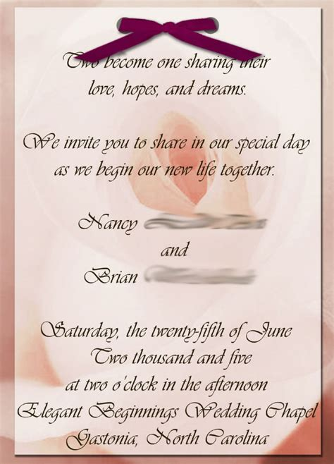 Wedding Invitation Quotes For Guests by Diy Wedding Invitations