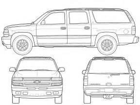 car blueprints chevrolet suburban gmt800 blueprints