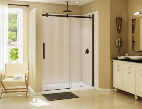 Menards Bathroom Showers by Maax 174 60 Quot Right Halo Alcove Brushed Nickel At Menards 174