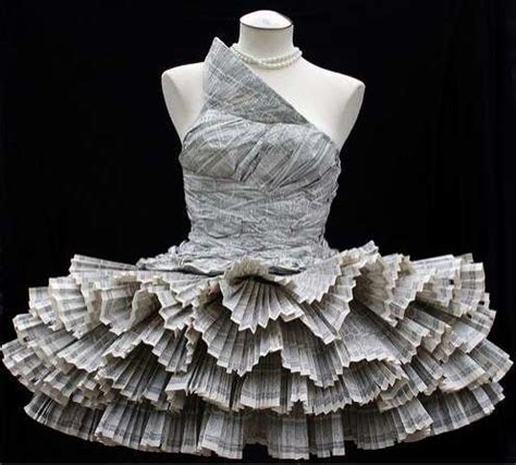How To Make A Dress Out Of Paper - creative but dresses made out of waste and other