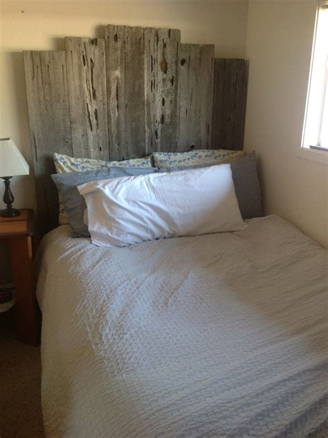 fence post headboard repurposed fence post headboard scrap wood stuff pinterest