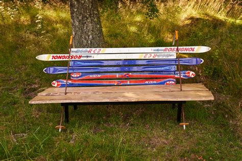 bench ski recycled skis bench recreate design company