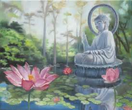 Buddha And Lotus Landscapes And Nature Of Buddy Mccue