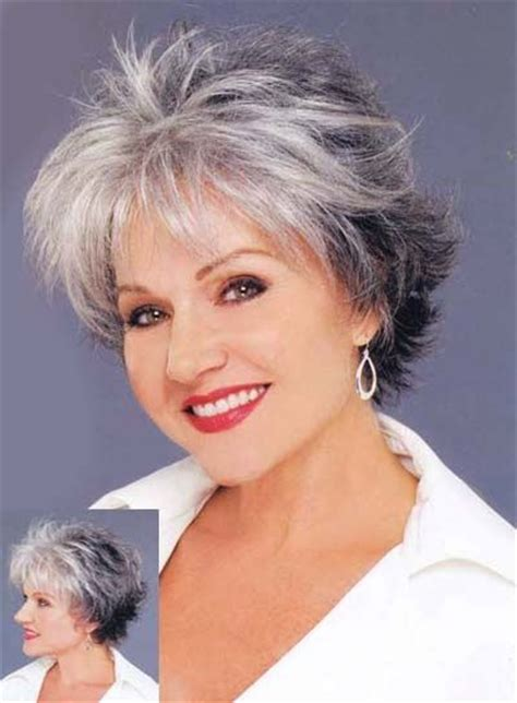 hairstyles for gray short hair for women over 70 gray highlights for women over 50 myideasbedroom com