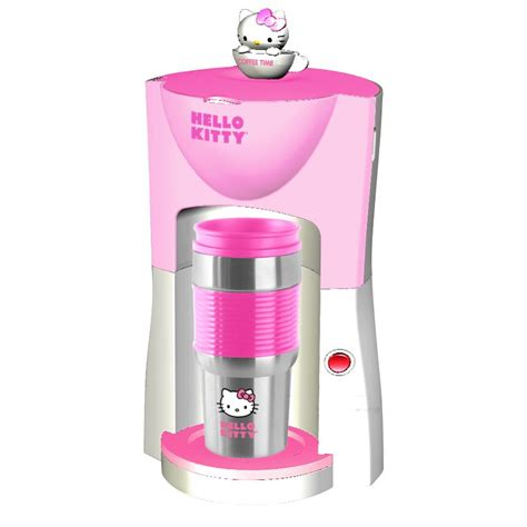 hello kitty kitchen appliances hello kitty one cup coffee maker want hello kitty