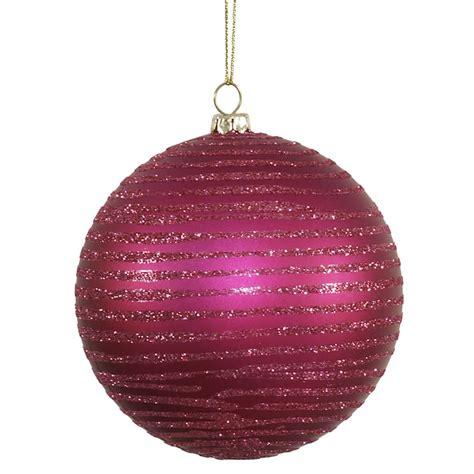 vickerman 337639 4 quot magenta matte glitter ball christmas