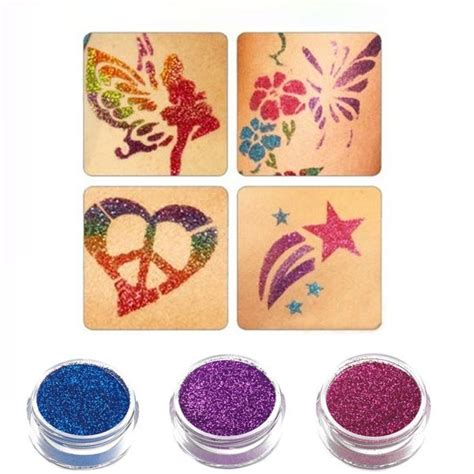 shimmer glitter tattoos shimmer glitter tattoos powder stickers