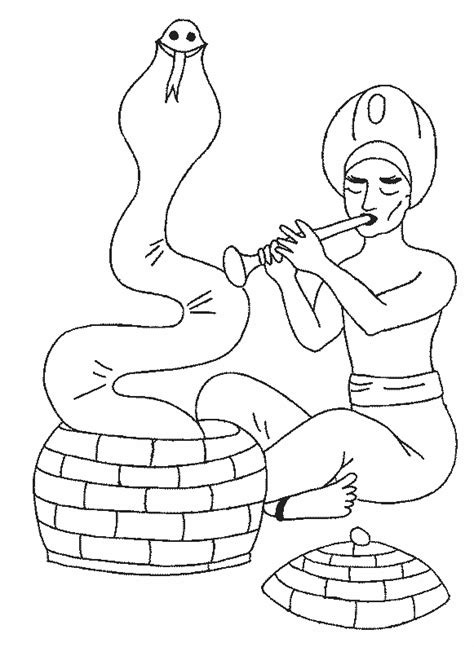 snake charmer coloring page amazing coloring pages snake charmers coloring pages