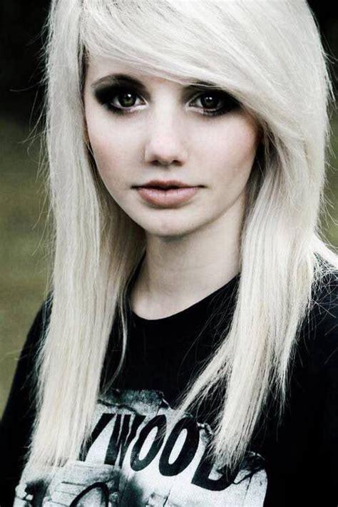 blonde emo haircuts blonde emo hair emo hair pinterest