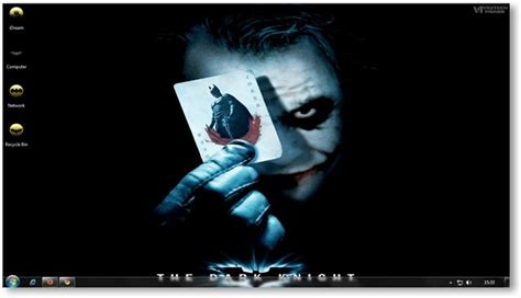 computer themes batman windows 7 themes the dark knight wallpapers theme for